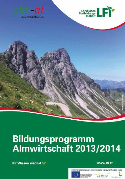 Bildungsprogramm Almwirtschaft 2013 - 2014