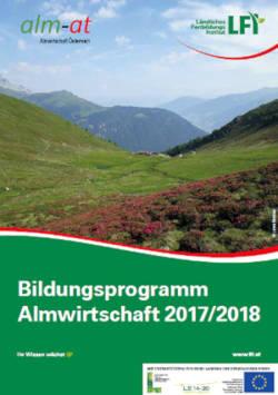 Bilungsprogramm Almwirtschaft 2018 Cover